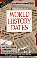 World History Dates (Usborne Hotshots) by…