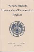 New England Historical and Genealogical…