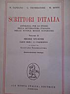 Scrittori d'Italia: antologia per lo studio…