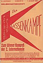 Der Klassenkampf. 5. Jahrgang. Nummer 15. 1.…