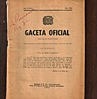 Gaceta Oficial: Santo Domingo de Guzmán, 19…