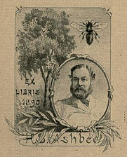 Author photo. Illustration: Ashbee in Paul Avril's bookplate 1890