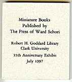 Miniature books published by the Press of…