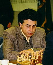Author photo. Yasser Seirawan (1960-    ), 2003 U.S. Chess Championships, Seattle, Washington. Photo by James F. Perry.