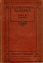 Elementary Algebra for Schools by Henry…