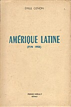 Amérique latine (Fin 1958) by Emile Genon