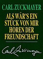 Gedichte by Carl Zuckmayer