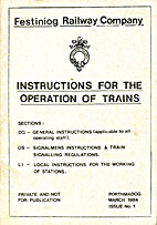 Instructions for the Operation of Trains