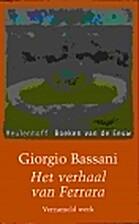 Het verhaal van Ferrara by Giorgio Bassani