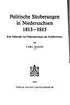 Politische Säuberungen in Niedersachsen…