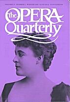 The Opera Quarterly - Vol. 15 Nr 1 by E.…