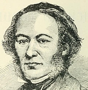 Author photo. Richard Cobden from Pamphlets, Vol. 1 (1904) by the Cobden Club (London, England).