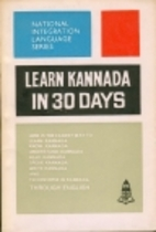 Learn Kannada in 30 Days by Ranga Rao