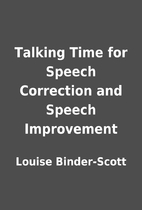 Talking Time for Speech Correction and…