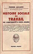 Histoire sociale du Travail de l'Antiquité…