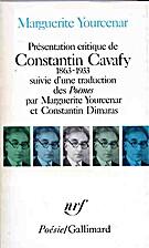Présentation critique de Constantin Cavafy…