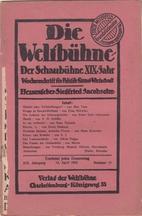 Die Weltbühnne. XIX. Jahrgang. 12. April…