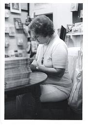 Author photo. Doris Buchanan Smith autographing A Taste of Blackberries, 1973, Brunswick, GA. Photo: Randy Smith