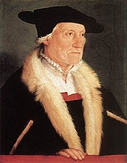 Author photo. Portrait of Sebastian Münster by Christoph Amberger, c. 1552