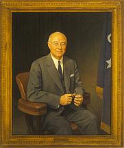 Author photo. Painting by Thomas Edgar Stephens