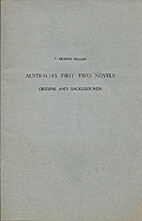 Australia's first two novels : origins and…
