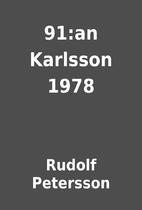 91:an Karlsson 1978 by Rudolf Petersson