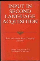 Input in second language acquisition by…