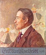 Author photo. Portrait by Carl Larsson (1918)