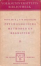 Psychologische methoden en begrippen. II by…