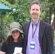 Author photo. Beth Henley with Ron Rash <br>at the 2007 LA Times Festival of Books <br>  Copyright © 2007 <a href=&quot;http://ronhogan.tumblr.com&quot;>Ron Hogan</a>