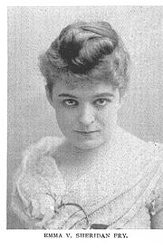Author photo. Emma Viola Sheridan Fry (b.1864) Buffalo Electrotype and Engraving Co., Bufalo, N.Y.