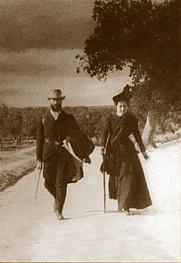 Author photo. Ramón Menéndez Pidal y María Goyri en su viaje de novios por la ruta del Cid año 1900