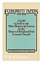Economists' papers, 1750-1950 : a guide to…