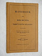 Handbook for Recruits, 35th Infantry.