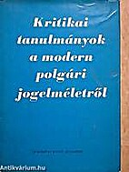 Kritikai tanulmányok a modern polgári…