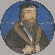 Author photo. Portrait of Roper by Hans Holbein