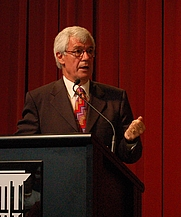 Author photo. Manning Clark House Annual Lecture, National Library of Australia, March 2008. Picture courtesy of Julian Burnside.