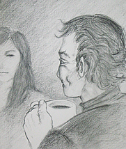 Author photo. Sketch by Heather Ogston
