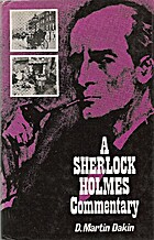 Sherlock Holmes Commentary by D. Martin…