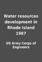 Water resources development in Rhode Island…