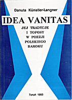 Idea vanitas, jej tradycje i toposy w poezji…