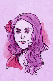 Author photo. Illustration of Abby Howard by Alexandra Douglass.