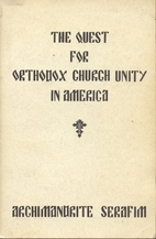 Quest for Orthodox Church Unity in America…