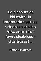 'Le discours de l'histoire' in Information…