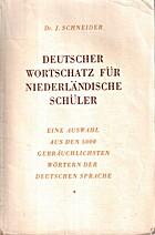 Deutscher Wortschatz : für niederländische…