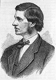 Author photo. Engraving of F.B. Sanborn, Harper's New Monthly Magazine, No. 301, June, 1875