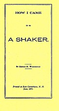 How I came to be a Shaker by George M.…