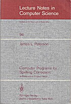 Computer programs for spelling correction:…