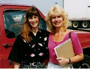 Author photo. Suzann Ledbetter with Justine Veatch in Missouri