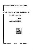 Chr. Snouck Hurgronje, 8-2-1857 - 26-6-1936…